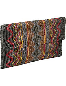 Beaded Evening Clutch Navajo Print by Moyna Handbags
