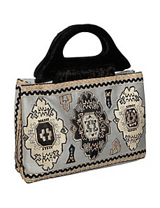 Tote w/ Embroidery by Moyna Handbags