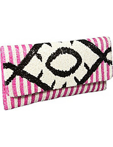 Clutch w/ Diamond pattern by Moyna Handbags