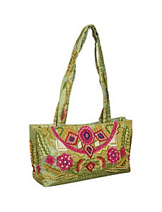 Tote w/ Rect Folk Patchwork by Moyna Handbags