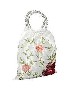 Tote Silk Sequin Flower by Moyna Handbags