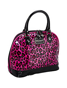 Pink Leopard Skull Embossed Bag by Loungefly