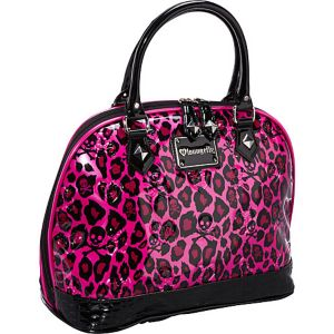 Pink Leopard Skull Embossed Bag