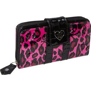 Pink Leopard Skull Embossed Wallet