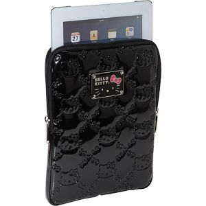 Hello Kitty Black Embossed iPad Case