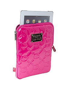 Hello Kitty Pink Embossed iPad Case by Loungefly