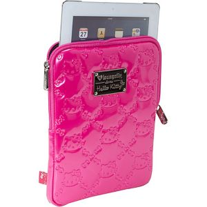 Hello Kitty Pink Embossed iPad Case
