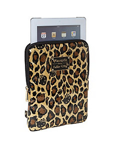 Hello Kitty Leopard Embossed iPad Case by Loungefly