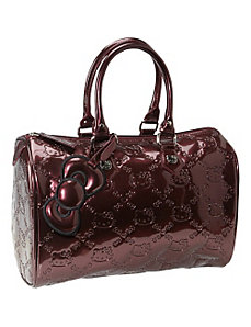 Hello Kitty Burgundy Embossed City Bag by Loungefly