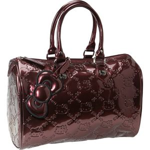 Hello Kitty Burgundy Embossed City Bag