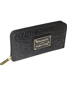 Hello Kitty Black Embossed Face Wallet by Loungefly
