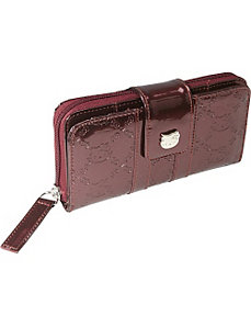 Hello Kitty Burgundy Embossed Wallet by Loungefly