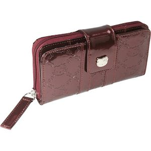 Hello Kitty Burgundy Embossed Wallet