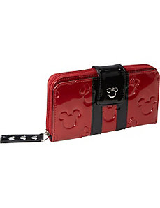 Minnie Mouse Red/Black Patent Embossed Wallet by Loungefly