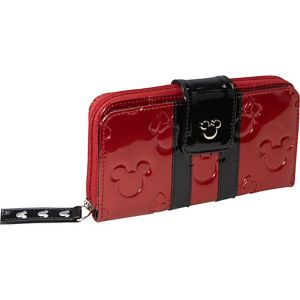 Minnie Mouse Red/Black Patent Embossed Wallet