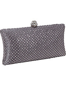 Hardcase Studded Clutch by J. Furmani