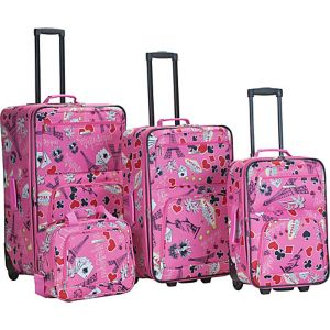 Vegas 4 Piece Printed Luggage Set