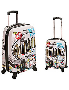 Traveler 2 Piece Hardside Luggage Set by Rockland Luggage