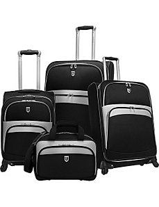 4 Piece Exp. Spinner Luggage Set by Beverly Hills Country Club
