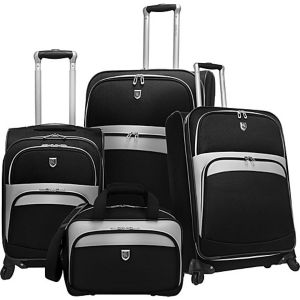 4 Piece Exp. Spinner Luggage Set