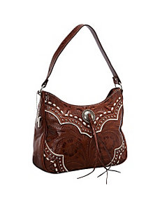 Sundance Zip-Top Shoulder Bag by American West