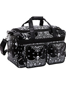 Skull Bandana Print Luggage by Loungefly