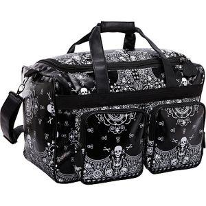 Skull Bandana Print Luggage
