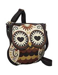 Owl With Heart Eyes Crossbody Bag by Loungefly