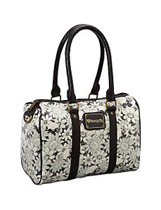 Floral Skull Satchel Bag by Loungefly
