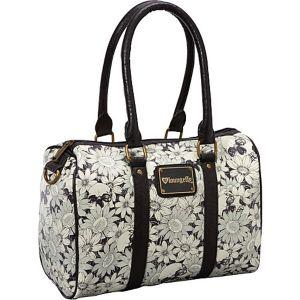 Floral Skull Satchel Bag