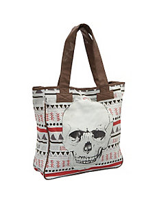 Tribal Print Skull Tote by Loungefly