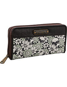 Floral Skull Wallet by Loungefly
