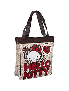 Hello Kitty Leopard Hug Me Tote by Loungefly