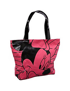 Minnie Mouse Pink & Black Tote by Loungefly