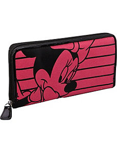 Minnie Mouse Pink & Black Wallet by Loungefly