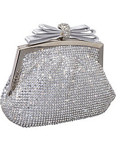 Crystal and Mesh Clutch by J. Furmani