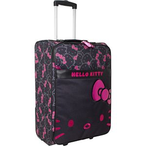 Hello Kitty Black & Pink Rolling Luggage