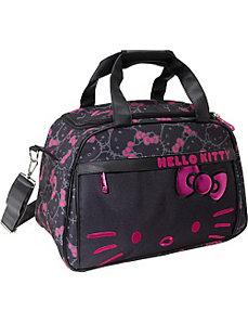 Hello Kitty Black & Pink Carry-On Duffle by Loungefly