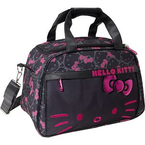 Hello Kitty Black & Pink Carry-On Duffle
