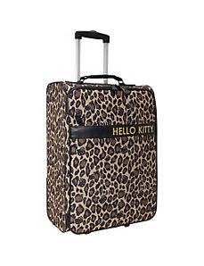 Hello Kitty Leopard Rolling Luggage by Loungefly