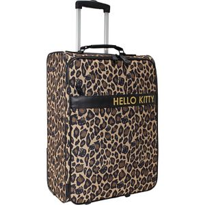 Hello Kitty Leopard Rolling Luggage