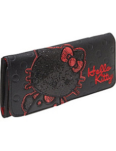 Hello Kitty Polka Dot Embossed Glitter Wallet by Loungefly
