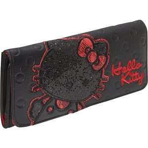 Hello Kitty Polka Dot Embossed Glitter Wallet