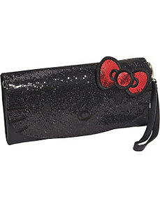 Hello Kitty Polka Dot Embossed Glitter Convertible by Loungefly