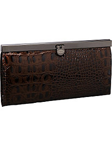 Croco Top Frame Ladies Wallet by R & R Collections