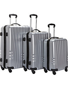 Lightweight Polycarbonate 3 Piece Swivel Luggage S by McBrine Luggage