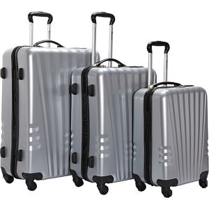 Lightweight Polycarbonate 3 Piece Swivel Luggage S
