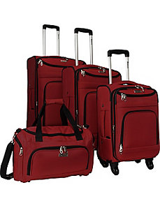 4 Piece Swivel Luggage Set by McBrine Luggage
