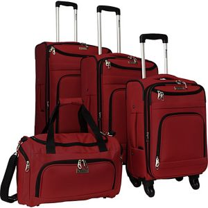 4 Piece Swivel Luggage Set