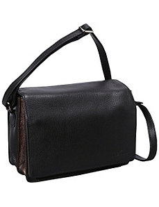Full Flap Multi Compartment Organizer Shoulder Bag by Derek Alexander